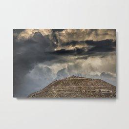 Pyramid Of The Sun Metal Print