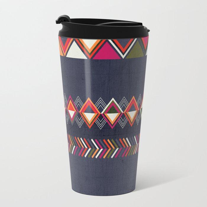 Tribal Pattern 25 Metal Travel Mug