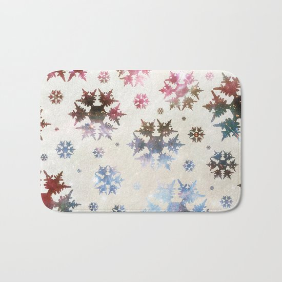 Star Snow Bath Mat