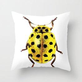 Insecte jaune et noir colors fashion Jacob's Paris Throw Pillow