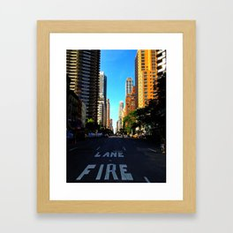 Street in NYC Framed Art Print