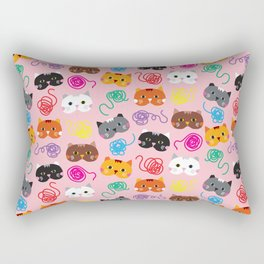 Cats Love String I Rectangular Pillow