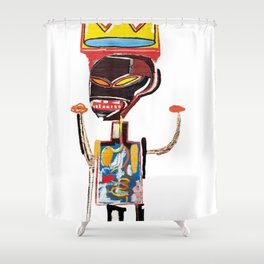 Homage to Basquiat Untitled Shower Curtain