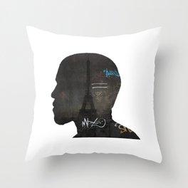 niggas in paris Throw Pillow