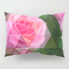 Pink Roses in Anzures 1 Art Triangles 1 Pillow Sham