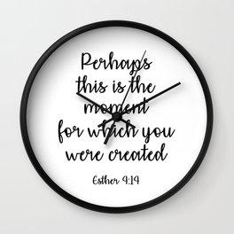 Bible verse - Esther Wall Clock