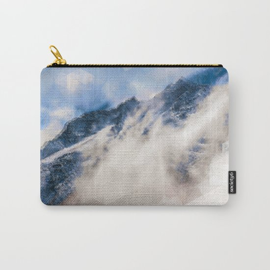 Snowy mountains - Triangles Carry-All Pouch