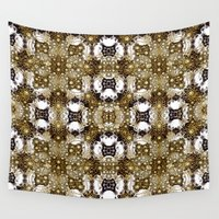 baroque Wall Tapestries featuring Baroque Ornament Pattern Print by DFLC Prints