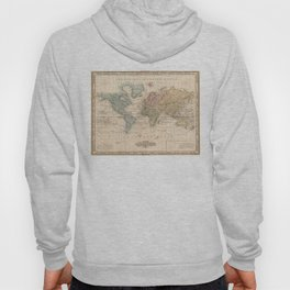 Vintage Map of The World (1823) 2 Hoody