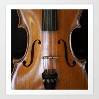 violin Art Prints featuring Violin by Päivi Vikström