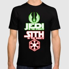 Jedi In The Streets Mens Fitted Tee MEDIUM Black