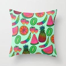 I ♥ Fruits Throw Pillow