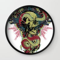 apocalypse now Wall Clocks featuring Apocalypse now by Tshirt-Factory