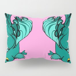 Double bettas in pink and green Pillow Sham