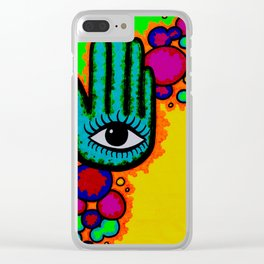 Blind you with color Clear iPhone Case