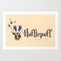 hufflepuff Art Prints featuring Hufflepuff by Kiell R.
