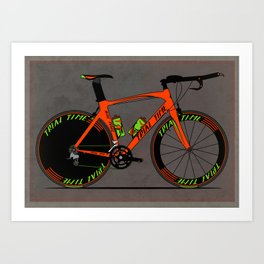Time Trial Bike Art Print