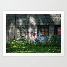 Early summer cottage Art Print