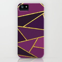 The Color of Purple And Gold iPhone Case