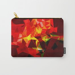 red polygone object Carry-All Pouch