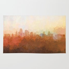 Kansas City, Missouri Skyline - In the Clouds Rug