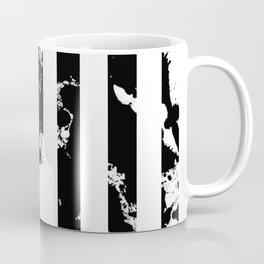 Splatter Bars - Black ink, black paint splats in a stripey stripy pattern Coffee Mug