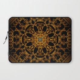Fractal Art - Tiki Gold I Laptop Sleeve