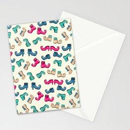Elf_Shoe_pattern Stationery Cards
