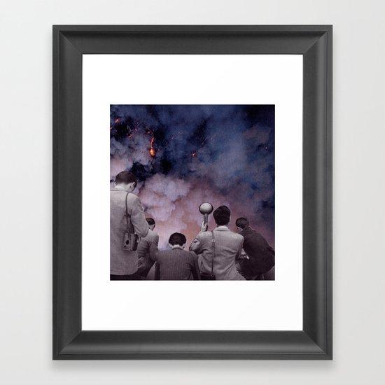 exposed film on fire Framed Art Print