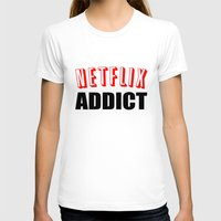 netflix T-shirts featuring Netflix Addict by Poppo Inc.
