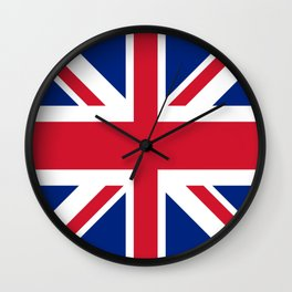 red white and blue trendy london fashion UK flag union jack Wall Clock