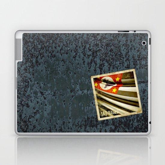 Sticker of Brazil (San Paulo) flag Laptop & iPad Skin