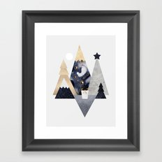 Christmas Mountains Framed Art Print