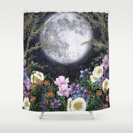 Midnight in the Garden II Shower Curtain