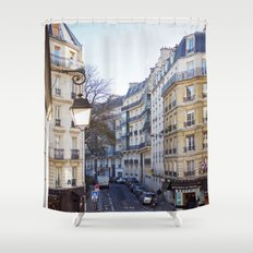 Streets of Paris. Shower Curtain