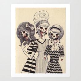 1960s Demon Girls Art Print
