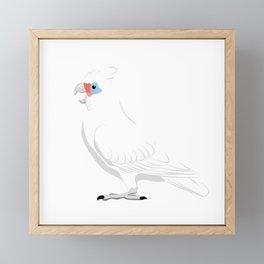 Little corella Framed Mini Art Print