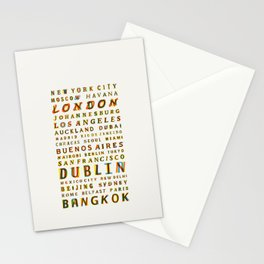 Travel World Cities Stationery Cards