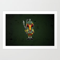 SpongeBoba Fett - Star Wars Spongebob mashup Art Print