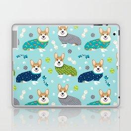 Corgi pajamas welsh corgi in pjs pattern print cute dog gifts custom dog portrait Laptop & iPad Skin