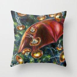 Jellyfishy Evening Throw Pillow