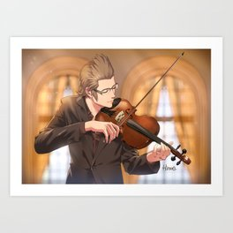 Ignis with violin Art Print