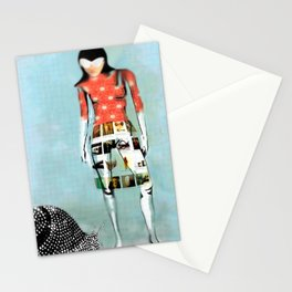 Girl with Snail Stationery Cards