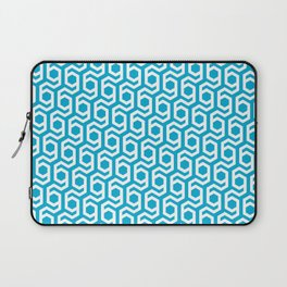 Modern Hive Geometric Repeat Pattern Laptop Sleeve