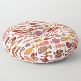 School of tropical fish pattern Floor Pillow