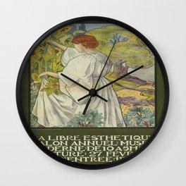 Vintage poster - La Libre Esthetique Wall Clock