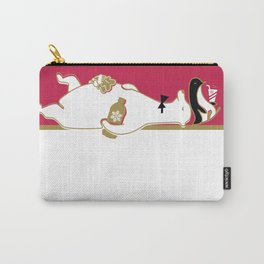 Holiday Polar Bear and Penguin Carry-All Pouch
