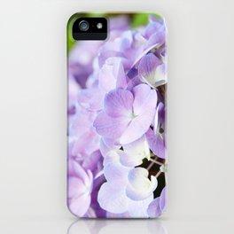 Light Purple Hydrangea iPhone Case