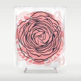 Pastel Peony Shower Curtain