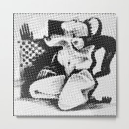 Figure Mono 1 Metal Print